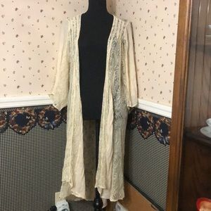 Beige lace cover up